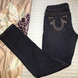 Dark wash skinny true religion jeans
